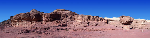Timna park - Panoramic view of the Mushroom Royalty Free Stock Photography