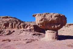 Timna park - Panoramic view of the Mushroom Royalty Free Stock Image