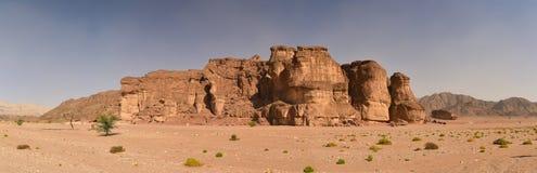 Timna-Parkkönig Solomons gewinnt Panorama Israel Stockfotografie