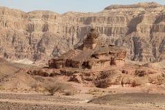 Timna-Tal, schrauben oben den Hügel Stockfotos