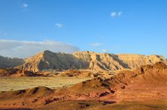 Timna Valley. The Timna Valley - historical area is rich in copper ore,  the southwestern Arabah, Israel Royalty Free Stock Photo
