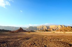 Timna Valley. The Timna Valley - historical area is rich in copper ore,  the southwestern Arabah, Israel Stock Photography