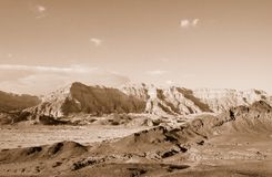 Timna Valley. The Timna Valley - historical area is rich in copper ore,  the southwestern Arabah, Israel. Sepia Stock Photos