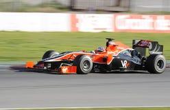 Timo Glock que conduz para o Virgin que compete a equipe Imagem de Stock Royalty Free