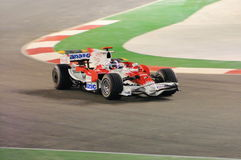 Timo Glock'S Toyota Car In Singapore F1 2008 Stock Images