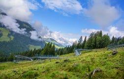 Timoks alpin kustfartyg i Fieberbrunn, Tirol, Österrike Royaltyfria Foton