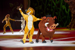 Timon and Pumbaa Waving Royalty Free Stock Photo