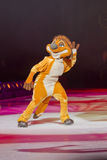 Timon on Skates. GREEN BAY, WI - MARCH 10: Timon the meerkat from The Lion King on skates at the Disney on Ice Treasure Trove show at the Resch Center on March Royalty Free Stock Photo