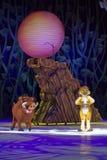 Timon y Pumbaa en patines Foto de archivo libre de regalías