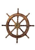 Timone del crogiolo di vela su priorità bassa bianca Fotografia Stock