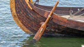 Timone della nave di Viking Fotografia Stock