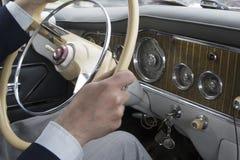 Timone di vecchia automobile Immagini Stock Libere da Diritti