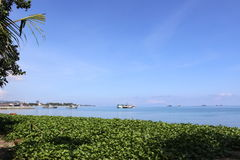 Timor-Est, vista dell'isola di Atauru Immagine Stock