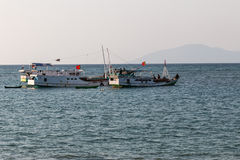 Timor leste boats. Timor leste boat dili timor sea Royalty Free Stock Photos