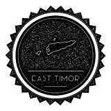 Timor-Leste Map Label with Retro Vintage Styled. Stock Photography