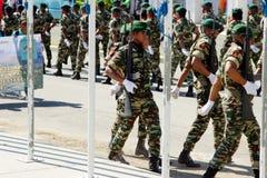 Timor Oriental comemora o dia nacional do exército Imagens de Stock