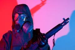 Timore di guerra chimica Fotografie Stock