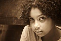 Timore ed abuso fotografia stock