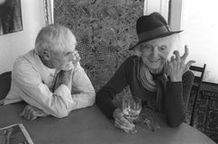Timothy F. Leary  and  Laura Huxley Stock Images