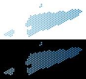 Timour Map Hexagonal Abstraction do leste ilustração royalty free