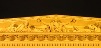 Timpaan van Nationaal Museum Royalty-vrije Stock Fotografie