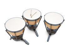 Timpani 3d illustration. Timpani on a white. 3d render image. Music instruments series Royalty Free Stock Photos