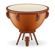 Timpani drum musical instruments stock vector illustration. On white background Royalty Free Stock Photography