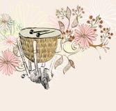 Timpani. Hand drawn timpani on a light background Stock Images