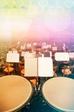 Timpani na scenie zdjęcia royalty free