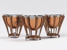 Timpani on white 3D rendering Royalty Free Stock Image