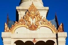 Timpano del padiglione di Buddha Fotografia Stock