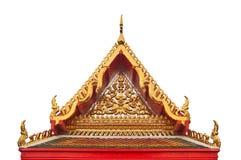 Timpano del tempio buddista con l'apex Immagini Stock Libere da Diritti