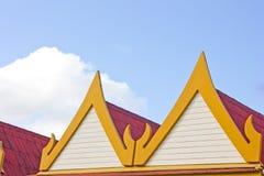 Timpano della casa tailandese Fotografia Stock