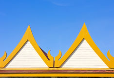 Timpano della casa tailandese Fotografia Stock Libera da Diritti