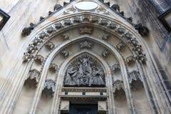 Timpano della st Vitus Cathedral Fotografie Stock Libere da Diritti