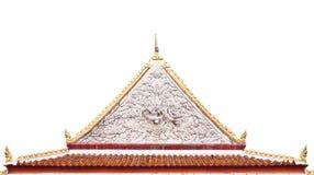 Timpano tailandese del tempio buddista con l'apex Fotografia Stock Libera da Diritti