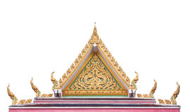 Timpano tailandese del tempio buddista con l'apex Immagini Stock