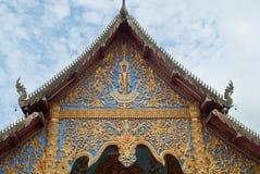 Timpano tailandese tradizionale in tempiale tailandese Immagini Stock