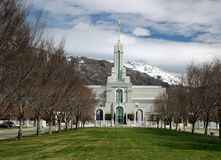 Timpanogas Utah Mormon LDS Temple American Fork early spring Royalty Free Stock Photos