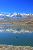 Timpanogos blue sky morning reflection. Royalty Free Stock Image