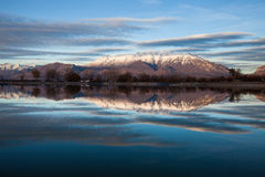 Timpanogos Mountain Reflection Royalty Free Stock Images