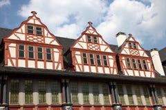 timrade tyska half hus Arkivfoto