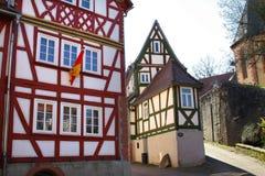 timrat half hus Arkivbilder