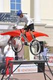 Timur Ibragimov ï ¿ ½ mistrz Rosja na cykl próbie, akty zdjęcie stock