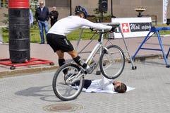 Timur Ibragimov ï ¿ ½ mistrz Rosja na cykl próbie, akty fotografia royalty free