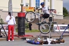 Timur Ibragimov ï ¿ ½ mistrz Rosja na cykl próbie, akty zdjęcie royalty free