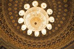 Timurids, Tashke的历史状态博物馆水晶枝形吊灯  库存图片