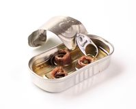 Tin of anchovies Royalty Free Stock Images