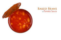 Tin of Baked Beans Stock Photo