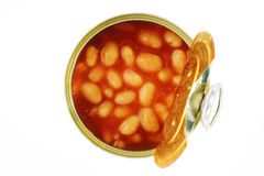 Tin of baked beans Royalty Free Stock Photo